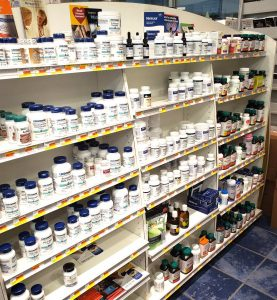 Tache Pharmacy Nutritional Supplements Section